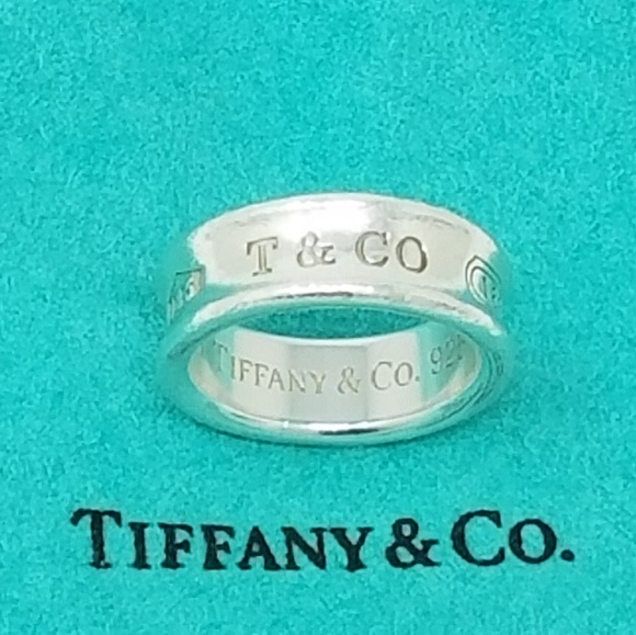 Tiffany And Co 1837 Concave Ring Size 6